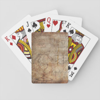 Antique Rustic Brown Distressed Playing Cards