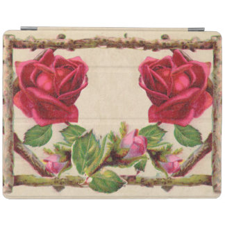 Antique Rustic Roses Vintage Flower iPad Cover