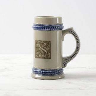 Antique S Monogram Beer Stein