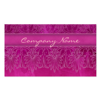 Antique Salon Spa Lace Business Card hot pink