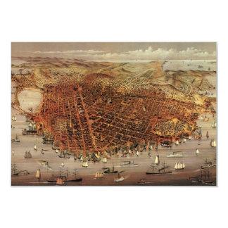 Antique San Francisco City Map, Change of Address 9 Cm X 13 Cm Invitation Card