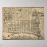 Antique Savannah City Plan Print