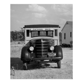 Antique School Bus, Greensboro, Georgia, 1941 Poster