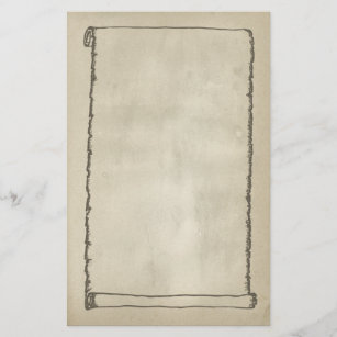 Antique Scroll Stationery Paper