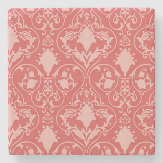 Antique scroll wallpaper 2 stone coaster