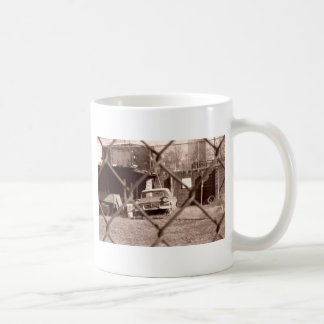 antique sepia tone car picture coffee mug