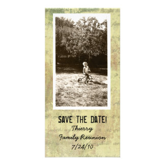 Antique Shabby Photo Save the Date Photo Cards