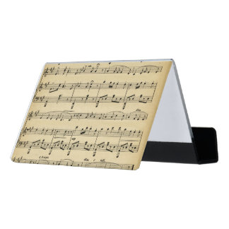 Antique Sheet Music Desk Business Card Holder