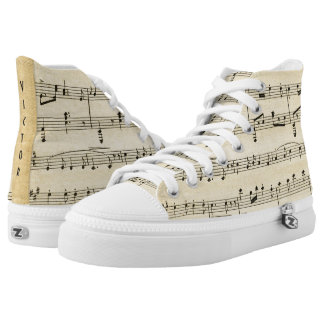 Antique Sheet Music Personalized Sneakers