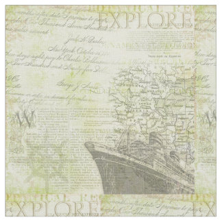 Antique Ship Cotton Fabric
