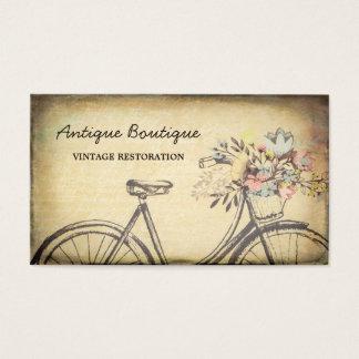 Antique Shop Vintage Restoration Floral Bicycle Business Card