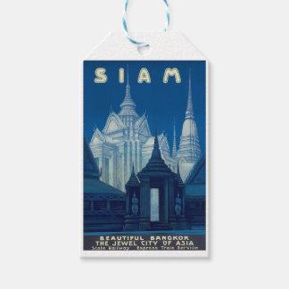 Antique Siam Bangkok Temples Travel Poster
