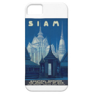 Antique Siam Bangkok Temples Travel Poster Barely There iPhone 5 Case