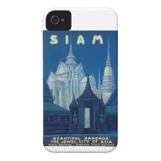 Antique Siam Bangkok Temples Travel Poster Case-Mate iPhone 4 Case