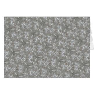 Antique Silver Gray Decorative Kaleidoscopic Card
