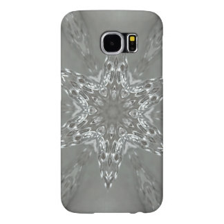 Antique Silver Gray Decorative Kaleidoscopic Star Samsung Galaxy S6 Cases