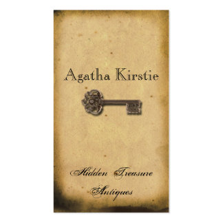 Antique Skeleton Key Business Card