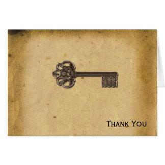 Antique Skeleton Key Card