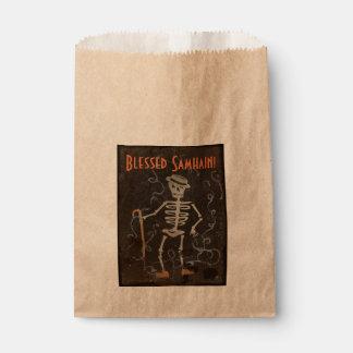 Antique Skeleton Samhain Favour Bag