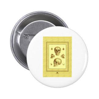 Antique Skulls 6 Cm Round Badge