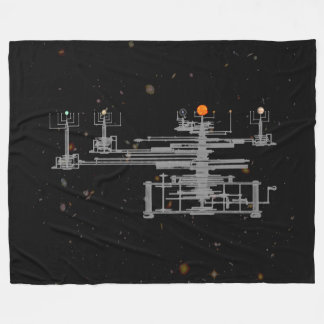 Antique Solar System Orrery Planetary in Space Fleece Blanket