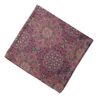 Antique Spanish Silk Pattern Bandana