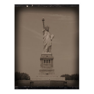 Antique Statue of Liberty Photograph Postcard