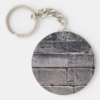 Antique stone wall, Phaistos, Crete, Greece Key Ring