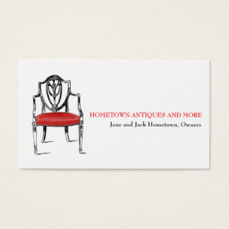 Antique Store Dealer Upholsterer Business Card