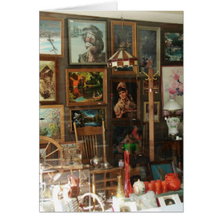 Antique Store Window Display Card