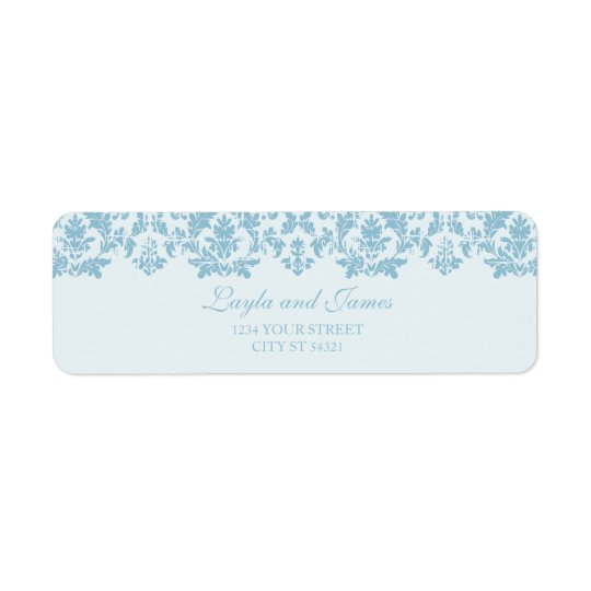 Antique Style Damask Address Labels