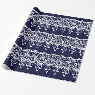 Antique Style Lace Design Wrapping Paper
