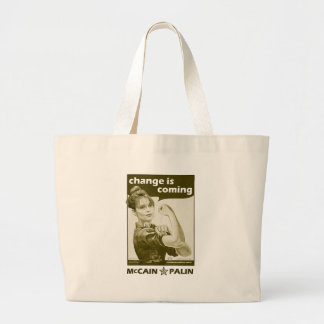 Antique-Style Sarah Palin Large Tote Bag