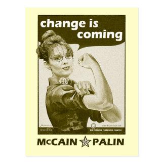Antique-Style Sarah Palin Postcard