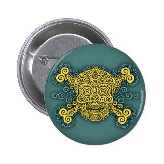 Antique Sugar Skull & Crossbones 2c 6 Cm Round Badge