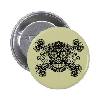 Antique Sugar Skull & Crossbones Buttons