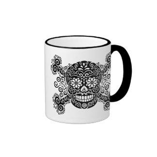 Antique Sugar Skull & Crossbones Mug