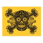 Antique Sugar Skull & Crossbones Post Cards