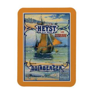 Antique summer travel fishing boat Heist Duinberg Rectangular Photo Magnet