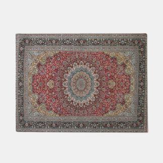 Antique Tabriz Persian Doormat