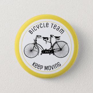Antique tandem 6 cm round badge