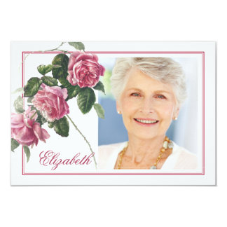 Antique Tea Rose Funeral Sympathy Thank You Card
