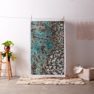 Antique Teal Rust Design Fabric