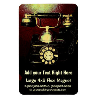 Antique Telephone Phone Number Book Rectangular Photo Magnet