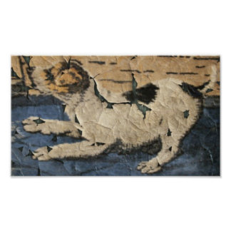 Antique Terrier Tapestry Poster Print