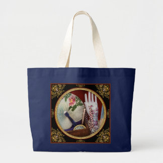 Antique - The finer things in life Large Tote Bag