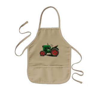 ANTIQUE TRACTOR KIDS APRON