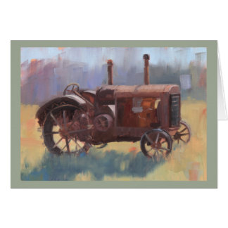 Antique Tractor Note Card