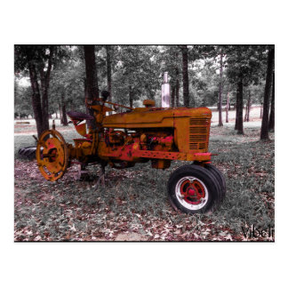 Antique Tractor Post Card by Vibeli