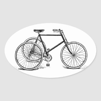 Antique Tricycle Oval Sticker
